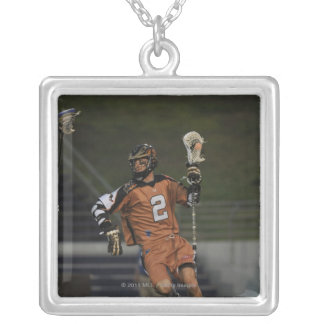 ANNAPOLIS, MD - MAY 14:  Ned Crotty #2 3 Silver Plated Necklace