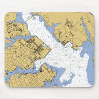 Annapolis MD Nautical Harbor Chart Mousepad