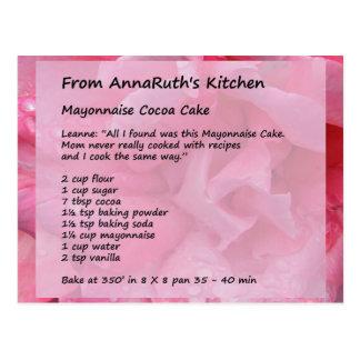AnnaRuth's Cocoa Cake Postcard