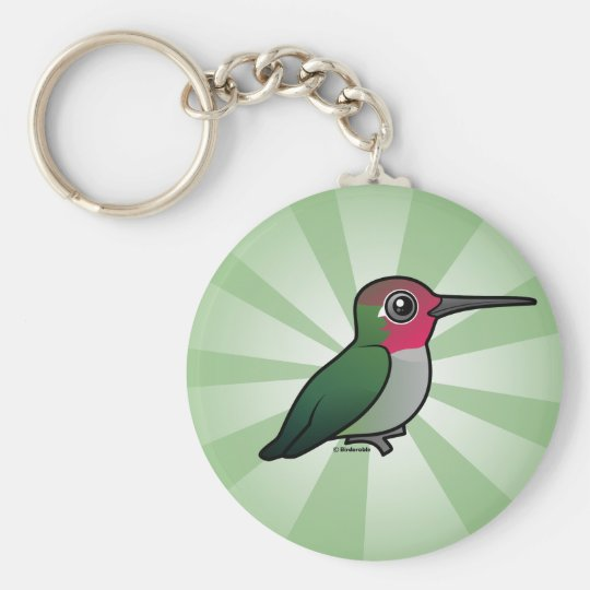 Anna's Hummingbird Basic Round Button Key Ring