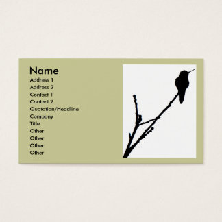 Anna's Hummingbird Business Card