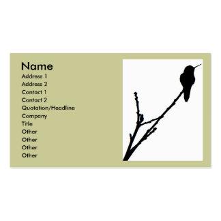 Anna's Hummingbird Business Card