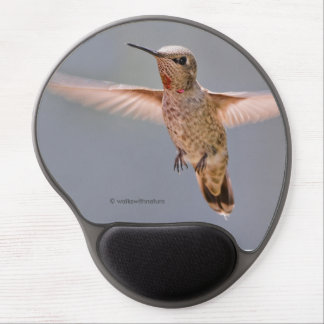 Anna's Hummingbird Hovers in Place Gel Mouse Mat