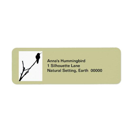 Anna's hummingbird Label Return Address Label