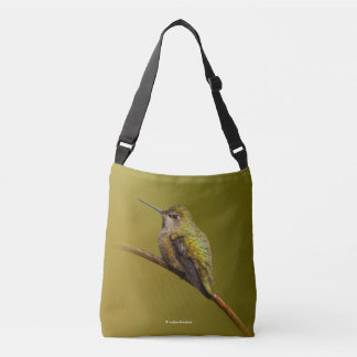 Anna's Hummingbird on the Scarlet Trumpetvine Crossbody Bag