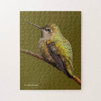 Anna's Hummingbird on the Scarlet Trumpetvine Jigsaw Puzzle