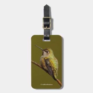 Anna's Hummingbird on the Scarlet Trumpetvine Luggage Tag
