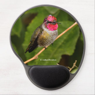 Anna's Hummingbird Shows off His Jeweled Head Gel Mouse Mat