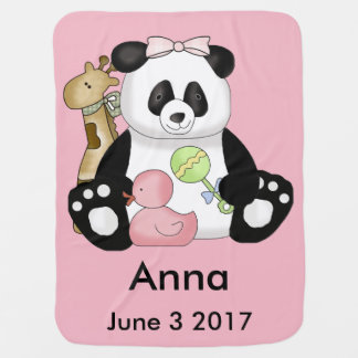 Anna's Personalized Panda Baby Blanket
