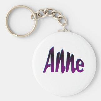 Anne Basic Round Button Key Ring