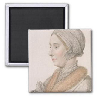 Anne Boleyn (1507-36) engraved by Francesco Bartol Magnet