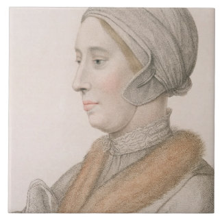 Anne Boleyn (1507-36) engraved by Francesco Bartol Tile