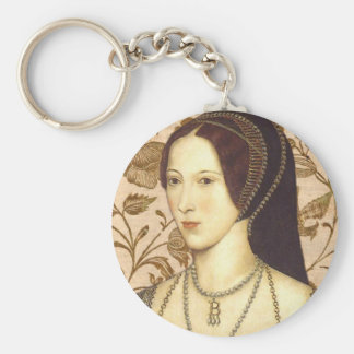 Anne Boleyn Basic Round Button Key Ring