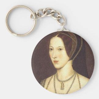 Anne Boleyn Basic Round Button Key Ring