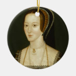 Anne Boleyn Double-Sided Ceramic Round Christmas Ornament