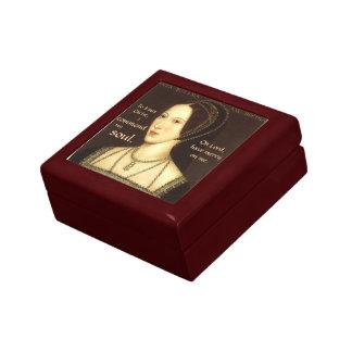 Anne Boleyn Execution Prayer Box Small Square Gift Box