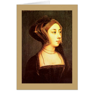 Anne Boleyn Greeting Card
