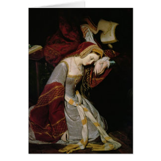 Anne Boleyn  in the Tower, detail, 1835 Card