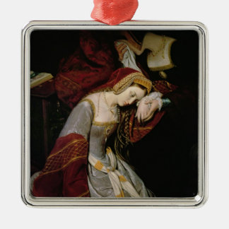 Anne Boleyn  in the Tower, detail, 1835 Christmas Ornament