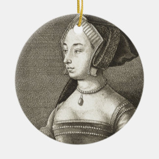 Anne Boleyn Round Ceramic Decoration