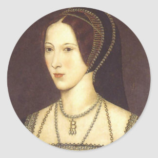 Anne Boleyn Round Sticker