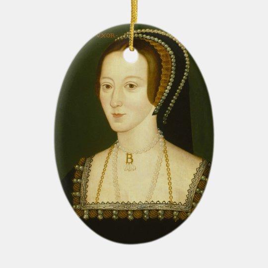 Anne Boleyn Second Wife of Henry VIII Portrait Christmas Ornament