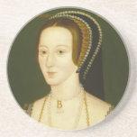 Anne Boleyn Second Wife of Henry VIII Portrait Beverage Coasters