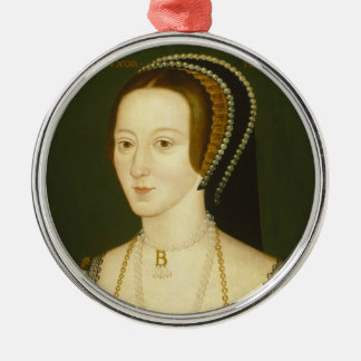 Anne Boleyn Second Wife of Henry VIII Portrait Silver-Colored Round Decoration