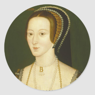 Anne Boleyn Second Wife of Henry VIII Portrait Round Sticker