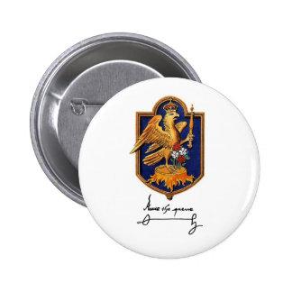 Anne Boleyn Signature & Coat of Arms 6 Cm Round Badge