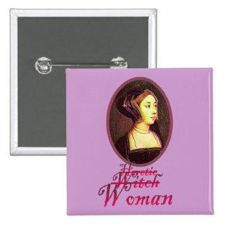 Anne Boleyn - Woman Button