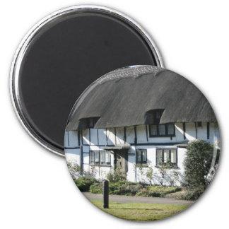 Anne Boleyn's cottages at Wendover, UK 6 Cm Round Magnet