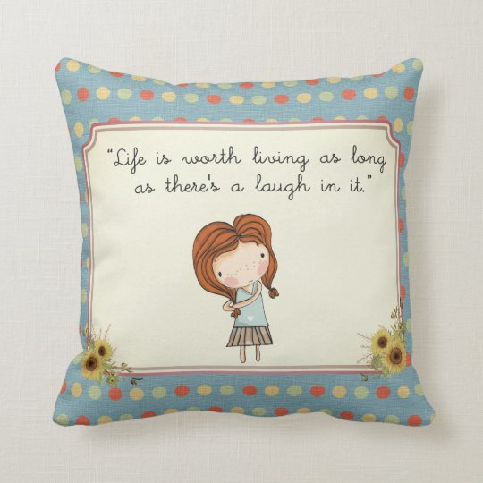 Anne Classic Literature Quote Vintage Nursery Cushion