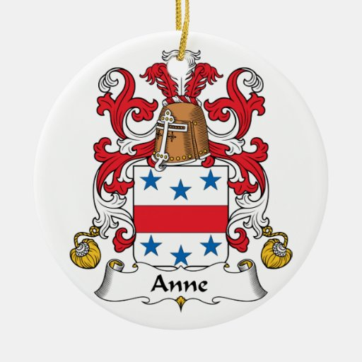 Anne Family Crest Christmas Tree Ornaments