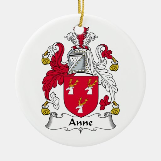 Anne Family Crest Christmas Tree Ornament