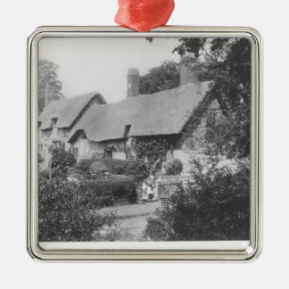 Anne Hathaway's cottage Silver-Colored Square Decoration