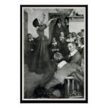 Anne Hutchinson Preaching in her House in Boston Print