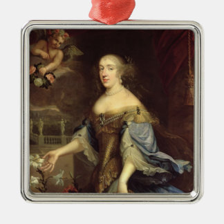 Anne-Marie d'Orleans  Duchess of Montpensier Silver-Colored Square Decoration