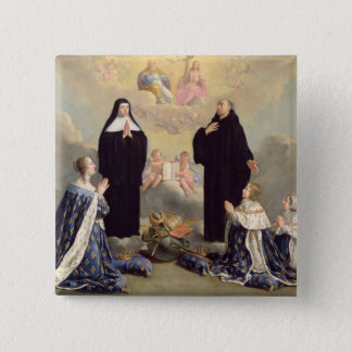 Anne of Austria  and her Children 15 Cm Square Badge