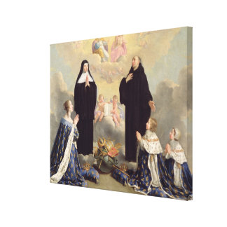 Anne of Austria  and her Children Canvas Print