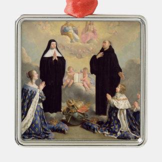 Anne of Austria  and her Children Silver-Colored Square Decoration
