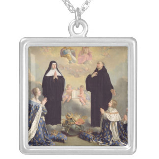 Anne of Austria  and her Children Silver Plated Necklace