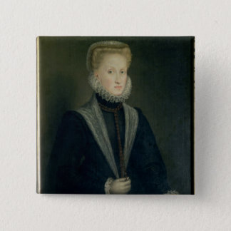 Anne of Austria, Queen of Spain 15 Cm Square Badge