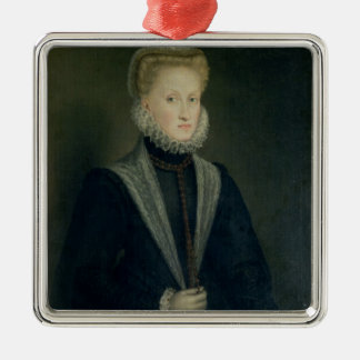 Anne of Austria, Queen of Spain Silver-Colored Square Decoration