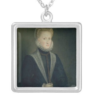 Anne of Austria, Queen of Spain Silver Plated Necklace