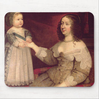 Anne of Austria  with her son Louis XIV Mouse Mat
