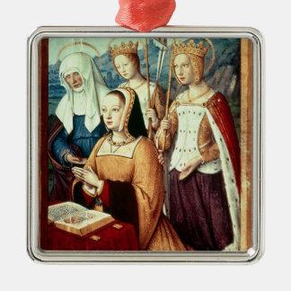 Anne of Brittany Silver-Colored Square Decoration