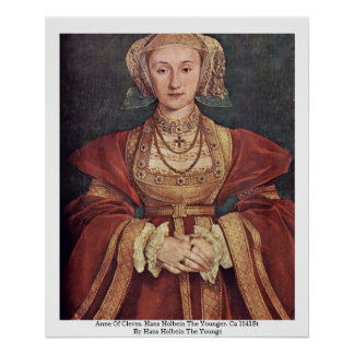 Anne Of Cleves. Hans Holbein The Younger Poster