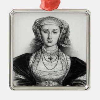 Anne of Cleves Silver-Colored Square Decoration