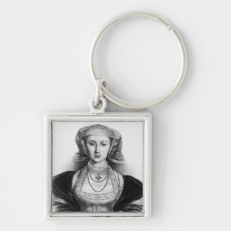 Anne of Cleves Silver-Colored Square Key Ring
